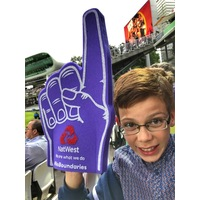 PRINTED ECONOMY/JUNIOR FOAM FINGER 46CM