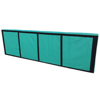 Pitch-side flat panel wedge kit 4 Metre with Print Branding