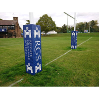 Pro Tournament series custom print rugby goal post pads - Set of 4