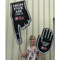 GIANT FOAM HAND ON A STICK ATTENTION GRABBER