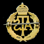 Auxiliary Territorial Service Brooch Badge attributed to an S.G. Winn No.W/280500, gold and ename...