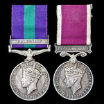 Palestine Arab Rebellion and Regular Army long service pair awarded to Corporal M.L. Ellis, 1st B...