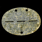 Germany - Third Reich: Original and complete Luftwaffe News Regiment man's zinc identity disc sta...