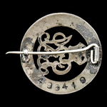 Silver War Badge, reverse numbered: '496419', awarded to Gunner G. Hunt, Royal Field Artillery, w...