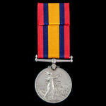 A Queen's South Africa Medal 1899-1902, no clasp, awarded to Private W. Sennett, 'A' Company, Min...