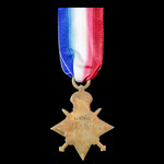 1914-1915 Star awarded to Private H. Down, Royal Fusiliers, later Northamptonshire Regiment who s...