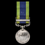 India General Service Medal 1908-1935, 1 Clasp: North West Frontier 1930-31, awarded to Corporal ...