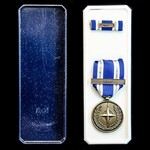 Nato Medal for Non Article 5 ISAF - Afghanistan, with original box of issue, and tunic ribbon bar.