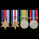 Second World War North West Europe group awarded to A.G. Aldridge, of Potter's Bar, Middlesex, wh...