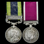 An India General Service Medal 1908-1935, GV, Fm bust, 1 Clasp: Burma 1930-32 and Regular Army Lo...