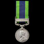 India General Service Medal 1908-1935, 1 Clasp: North West Frontier 1930-31, awarded to Private A...