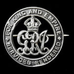 Silver War Badge, reverse numbered '135283' as awarded to Sergeant Samuel Johns, South Staffordsh...
