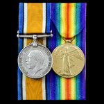 Great War pair awarded to Sapper W.C. Palmer, Royal Engineers.