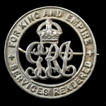 Silver War Badge, reverse numbered '117374' as awarded to Private James Davies, Army Service Corp...