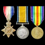 Great War Accountant's 1914-1915 Star and British War Medal pair awarded to Sub Conductor later A...