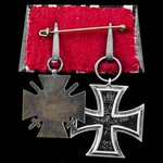 Germany - Imperial: Pair of awards: Iron Cross 1914 2nd Class; Honour Cross 1914-1918 with Swords...