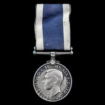 Royal Navy Long Service and Good Conduct Medal, GVI 1st type bust, awarded to Stoker Petty Office...