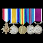 Great War 1914, Delhi Durbar 1911 and long service group awarded to Sergeant C. Packham, 17th The...
