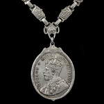 King's Medal for Native Chiefs, GVR Crowned head 1st type with larger bust, 2nd Class in Silver, ...