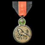​  Belgium: Yser Medal 1914, bronze and enamel.