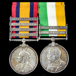 South Africa Boer War Relief of Ladysmith pair awarded to Corporal later Sergeant A.E. Simmons, M...