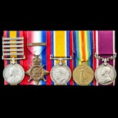 South Africa Boer War and Great War 1914 Old Contemptible's long service group awarded to Sergean...