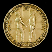 Earl Saint Vincent's Medal 1800, silver-gilt issue, measuring 48 mm in diameter. The medal was ge...