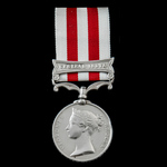 Indian Mutiny Medal 1857-1859, 1 Clasp: Central India, awarded to Private William Nelson, 72nd Re...