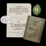 Germany – Third Reich: An interesting and rare Wehrpass and Document group to Lapland Shield reci...