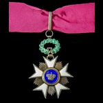 Belgium: Order of the Crown, Commander Grade back badge. Second World War period manufacture.