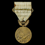 France: Medal for the Levant 1918-1922, with bar Levant, 36 mm in bronze