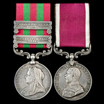 India Relief of Chitral 1895 and Punjab Frontier 1897 to 1898 and long service pair awarded to Pr...
