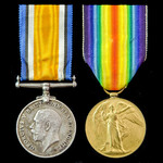 Great War Third Battle of Ypres Casualty pair awarded to Private H.G. Crandon, 2nd Battalion, Ham...