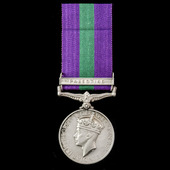 General Service Medal 1918-1962, GVI 1st type, 1 Clasp: Palestine awarded to Private H.C. Gotch, ...