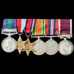 Palestine Arab Rebellion and Second World War Burma and long service group awarded veto Warrant O...