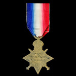 1914-1915 Star awarded to Private C. Palmer, 8th Battalion, Royal West Kent Regiment who saw serv...