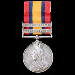Queen's South Africa Medal 1899-1902, 2 clasps: Cape Colony, Orange Free State awarded to Private...