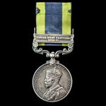 India General Service Medal 1908-1935, 1 Clasp: North West Frontier 1930-31, awarded to Private B...