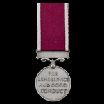 Regular Army Long Service and Good Conduct Medal, GVR, crowned head bust awarded to Warrant Offic...