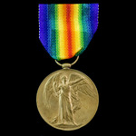 Victory Medal awarded to Private W. McSorley, 11th Battalion, Royal Scots who died of wounds on 2...