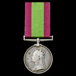 ​  An Afghanistan Medal 1878-1880, no clasp, awarded to Private H. Lofts, 15th Hussars, who saw s...