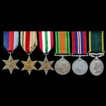 Second World War North Africa and Italy, and Territorial long service group awarded to Lieutenant...