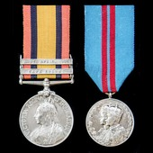 A South Africa Boer War and Coronation Medal 1911 pair awarded to Private G. Wright, Essex Regime...