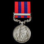 India General Service Medal 1854-1895, 1 Clasp: Perak awarded to Private J. Devlin, 1st Battalion...