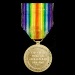 Victory Medal awarded to Gunner R.A. Hemmings, Royal Field Artillery, who was latterly serving wi...
