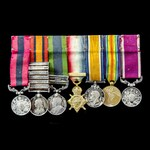 South Africa Boer War Advance to Pretoria Distinguished Conduct Medal, North West Frontier 1908, ...
