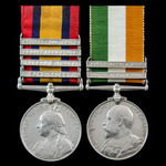 South Africa Boer Mountain Battery Relief of Ladysmith pair awarded to Gunner J. Handley, Royal G...
