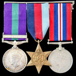 Palestine Arab Rebellion and Second World War 1940 operations group awarded to Private E. Holland...