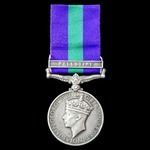 General Service Medal 1918-1962, GVI 1st type bust, 1 Clasp: Palestine, awarded to Sergeant later...