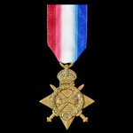1914-1915 Star awarded to Private A. Carpenter, 14th Battalion, Northumberland Fusiliers, who lat...